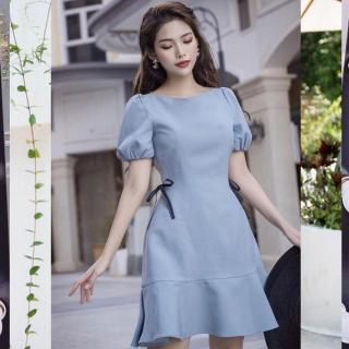 Váy đầm nữ dự tiệc phối họa tiết thời trang nữ TOMB thumbnail