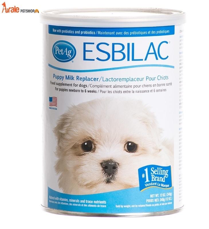 Sữa bột Esbilac thương hiệu số 1 thế giới dành cho cún bổ sung đầy đủ dinh dưỡng, khoáng chất-Aralepetshop
