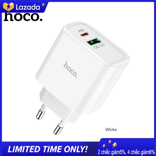 Bộ sạc nhanh HOCO / Hoco.C57A PD + QC3.0 với tiêu chuẩn Châu Âu, giao diện USB