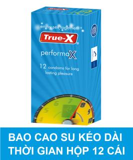 [HCM]Bao cao su True-X PerformaX- Extra time kéo dài thời gian hộp 12 cái thumbnail