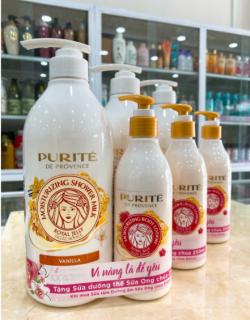 Sữa tắm Purite Chiết xuất Sữa Ong Chúa 850ml - Tặng Kèm Chai Dưỡng Thể Provence 250ml thumbnail