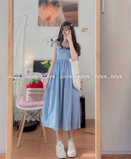 Váy đầm nữ đi chơi, đi tiệc, váy 2 dây nữ đi biển siêu xinh dáng babydoll xòe cực xinh [VÁY XANH] thumbnail