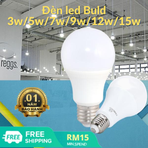Bóng đèn LED E27 tiết kiệm năng lượng 3w, 5w, 7w, 9w, 12w, 15w, đèn trang trí, bảo hành 1 năm