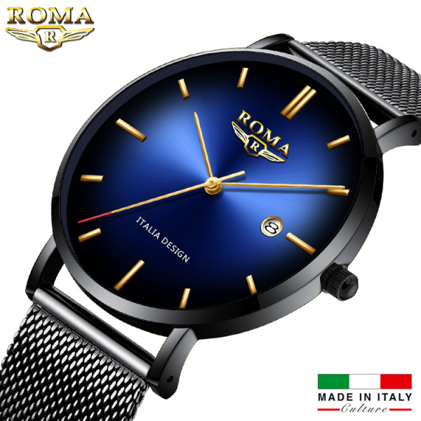 Đồng Hồ Nam ROMA ITALIA Mặt Chuyển Màu Nghệ Thuật - Dây Titanium Siêu Bền bán chạy