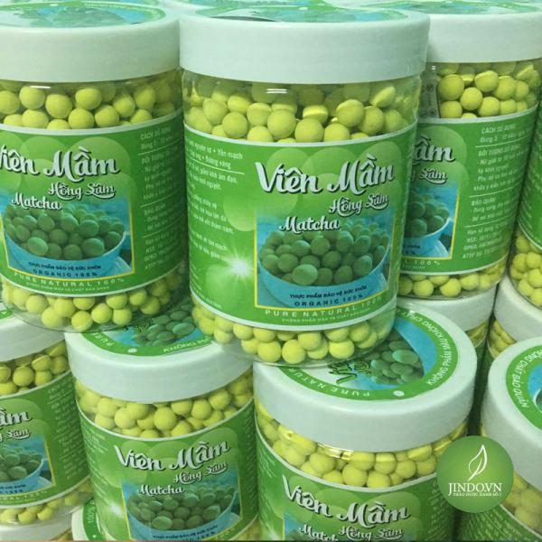 1 hũ 500gram Viên Mầm đậu nành hồng sâm Matcha có giấy chứng nhận vệ sinh an toàn thực phẩm) LV937