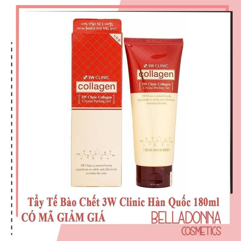 Tẩy Tế Bào Chết 3W Clinic Collagen Crystal Peeling Gel 180ml nhập khẩu