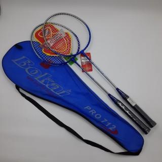 1 cặp vợt đánh cầu lông bokai pro712, tặng 1 trái cầu Hải Yến Bạc, độ căng lưới mặt vợt dưới 6kg thumbnail