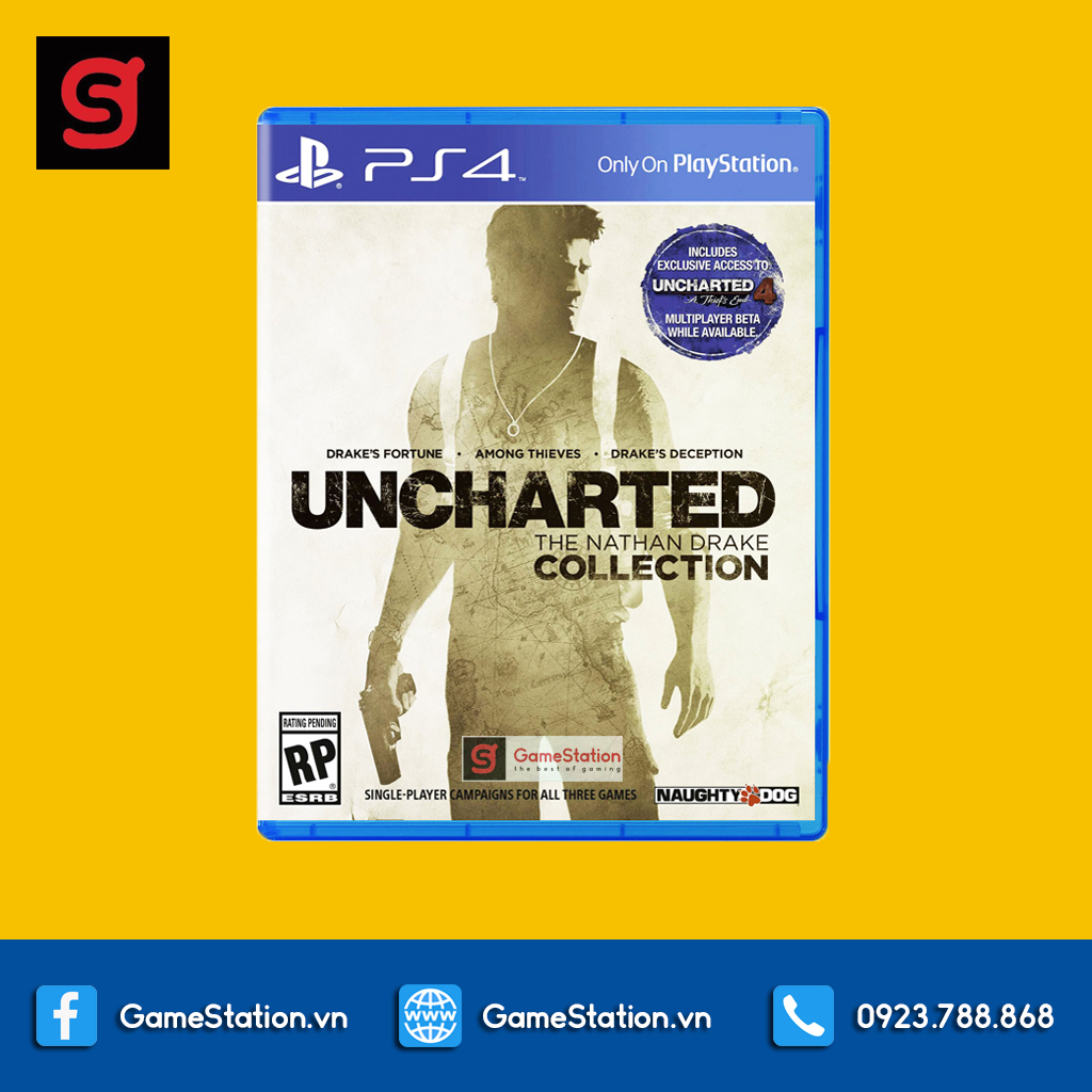 Đĩa Game PS4: Uncharted: The Nathan Drake Collection - US