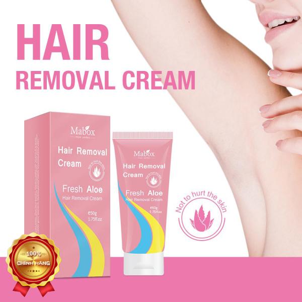 Kem triệt lông dịu nhẹ ,kem  MAXBOX HAIR REMOVAL CREAM FRESH ALOE không gây kích ứng dành cho cả nam và nữ