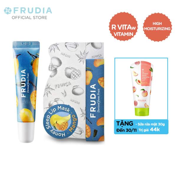 [TẶNG 44K]Mặt Nạ Dưỡng Ẩm Môi Chiết Xuất Mật Ong Xoài Frudia Mango Honey Sleep Lip Mask 10g