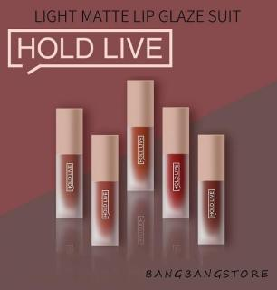 Một Set 5 Cây Son Kem Nhung Holdlive Light Matte Lip Glaze Suit nội địa Trung No.HL231 thumbnail