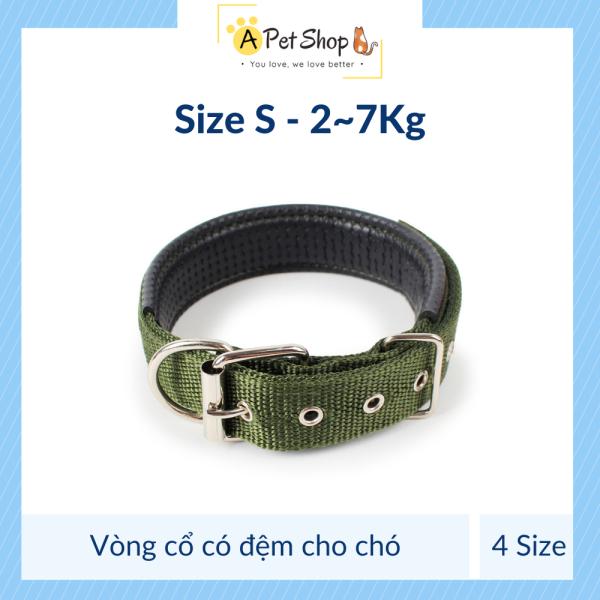[Ảnh thật] Vòng cổ cho chó có đệm nhiều màu, size (có clip) - A Pet Shop