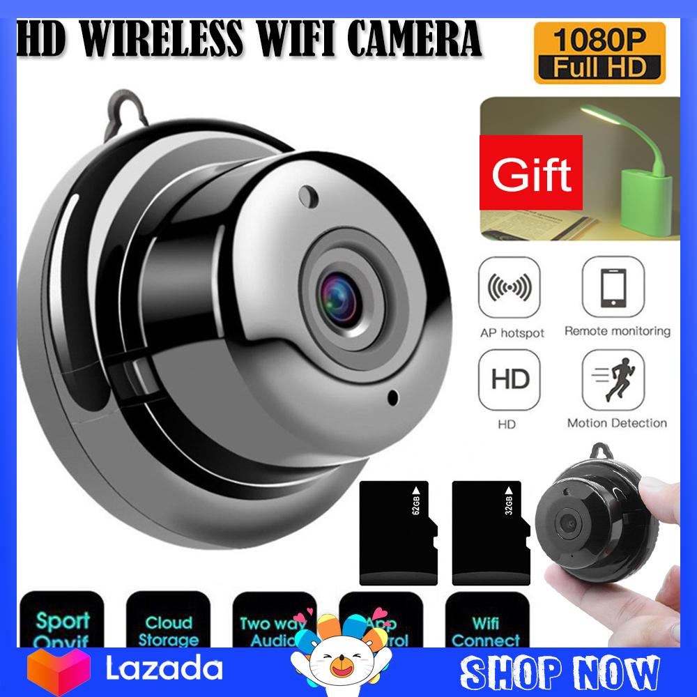 【Free gift】Camera An Ninh V380 Wifi Không Dây 1080P HD IP Camera Quan Sát Ban Đêm IR Camera Quan Sát Mini