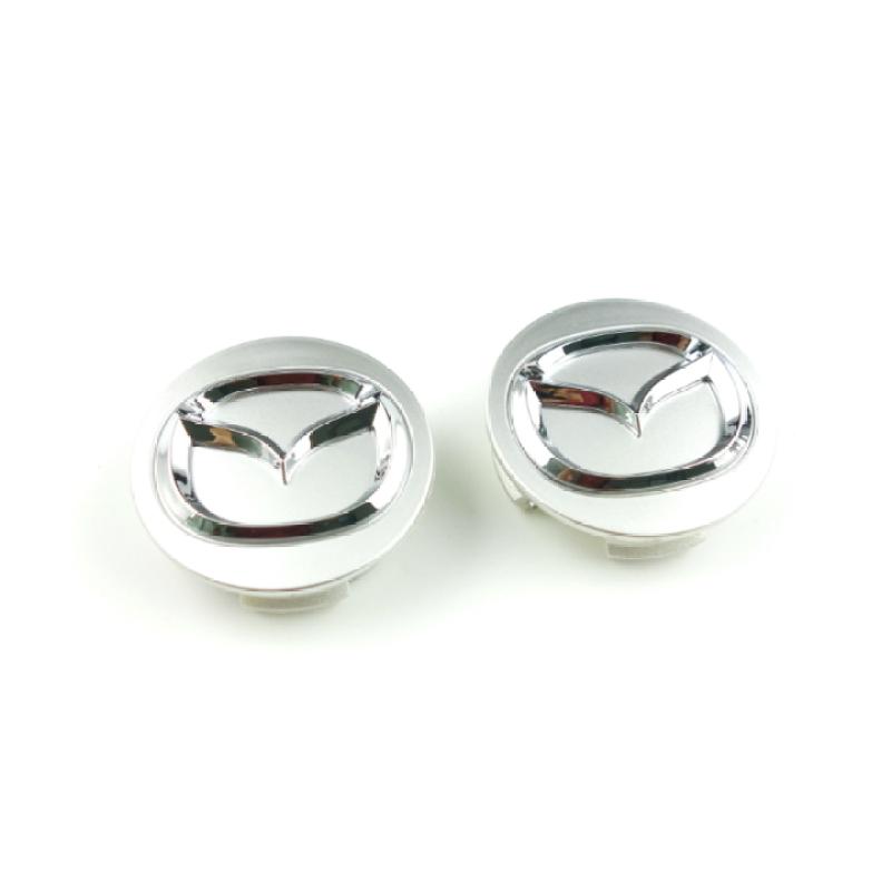 Logo Chụp Mâm Bánh Xe Ô Tô Mazda Đường Kính 56mm - bạc