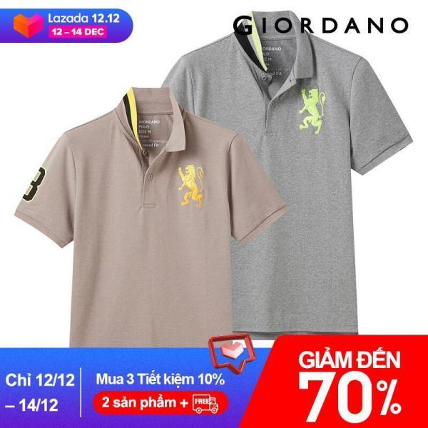 Bộ 2 áo thun có cổ polo thêu logo nam tính mạnh mẽ làm bằng chất liệu dày dặn thoáng mát dành cho nam, mẫu 01240723 - INTL
