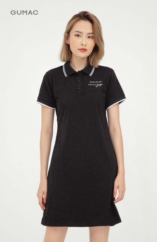Nơi bán Đầm nữ  DA1007 GUMAC thiết kế  polo thêu positive