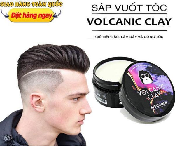 Sáp Vuốt Tóc Nam, Sáp Vuốt Tóc Nam Volcanic Clay Apestomen 2019, Keo Vuốt Tóc Nam, - Giúp tóc giữ nếp, chất sáp mềm dễ vuốt, hương thơm dễ chịu, lựa chọn cho tóc khó vào nếp giá rẻ
