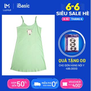 [Sản phẩm mới] Đầm ngủ nữ cotton hai dây nữ iBasic SY003 tặng túi bảo vệ môi trường thumbnail