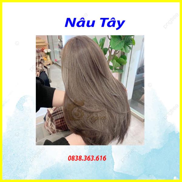 💥Tuýp Nhuộm tóc NÂu TÂY lên từ nền tóc đen dành cho cả nam và nữ (TẶNG KÈM OXY TRỢ NHUỘM +GĂNG TAY)