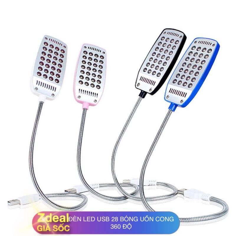 Bảng giá Đèn LED USB thân kim loại uốn cong 360 độ gồm 28 bóng siêu sáng ( Đen / Trắng / Hồng / Xanh - Có chọn mẫu ) Phong Vũ