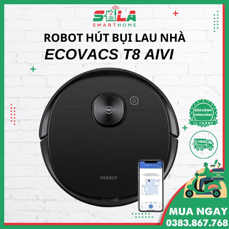 Robot hút bụi lau nhà Ecovacs Deebot T8 Aivi - Siêu phẩm 2021
