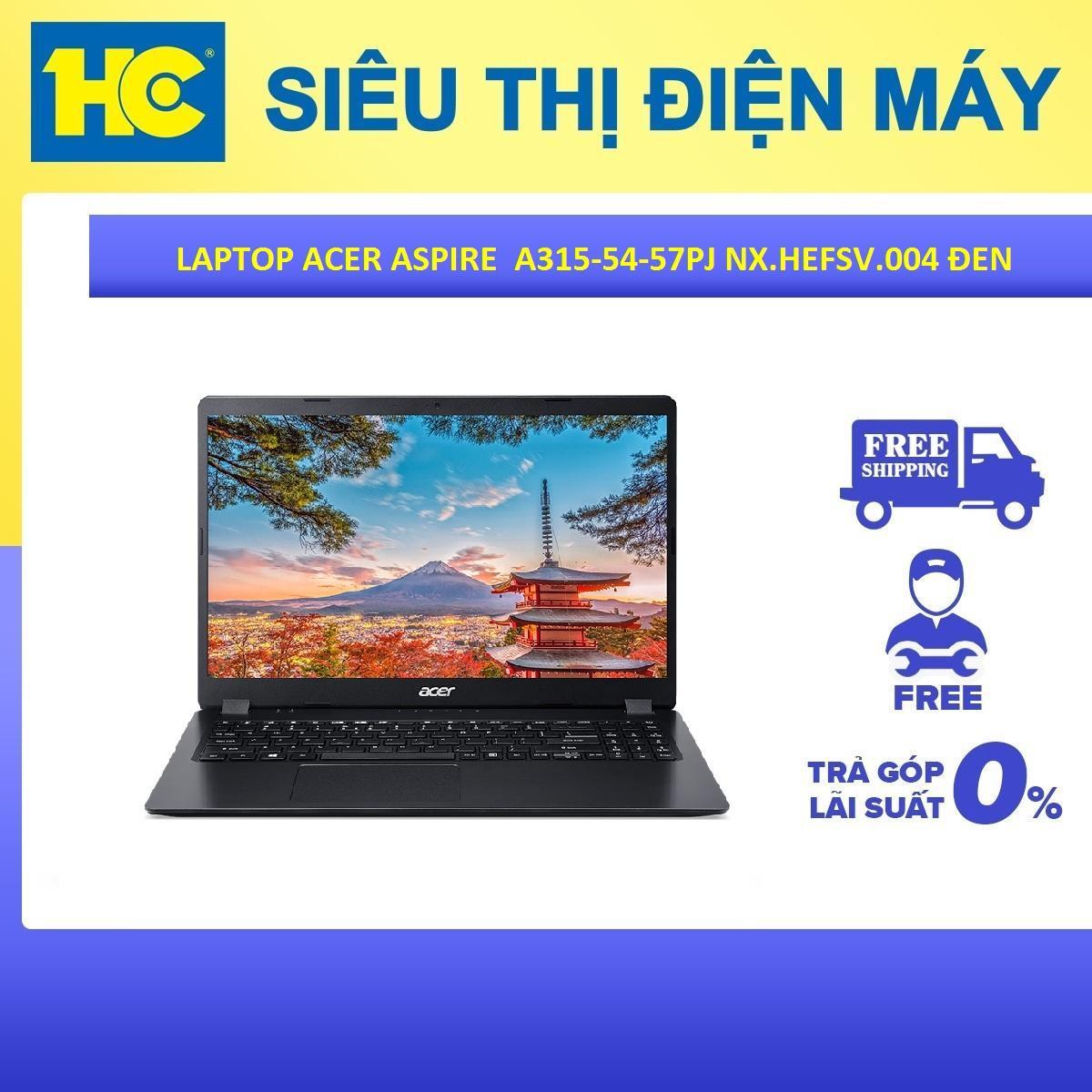 Laptop ACER Aspire A315-54-57PJ NX.HEFSV.004 i5 8265 4G 256SSD 15.6 FHD W10SL Đen