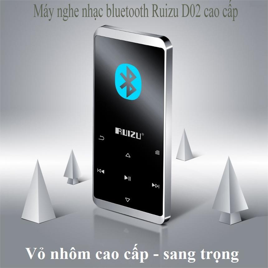 Máy nghe nhac bluetooth , máy nghe nhạc mp3, nghe nhac , Máy nghe nhạc Lossless Bluetooth Ruizu D02 - 8Gb cao cấp, Bộ nhớ trong 8Gb. Hỗ trợ thẻ nhớ TF dung lượng tối đa 128gb, có thể xem phim nghe nhạc, đọc truyện -Có chế độ hẹn giờ tắt máy