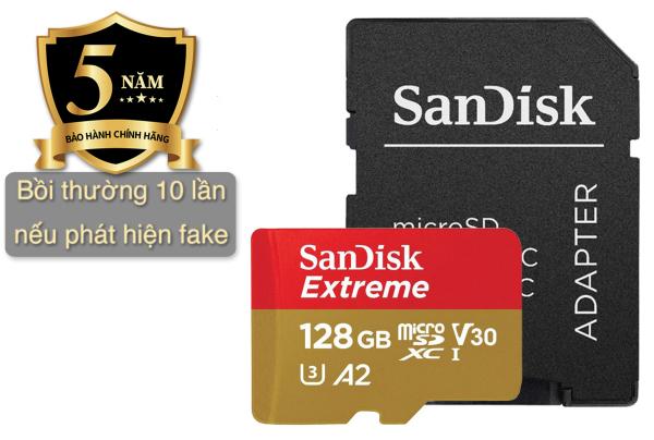 Thẻ Nhớ MicroSD SanDisk Extreme U3/V30 128GB, cam kết chính hãng 100%, Bảo hành 5 năm