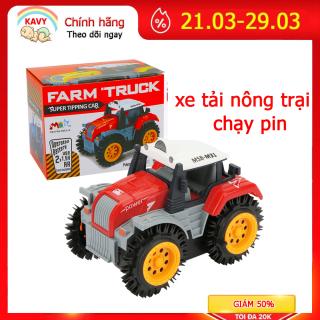 Đồ chơi ô tô xe tải nông trại chạy pin, chi tiết sắc sảo nhựa nguyên sinh an toàn có chứng chỉ hợp quy (màu đỏ)-KAVY thumbnail