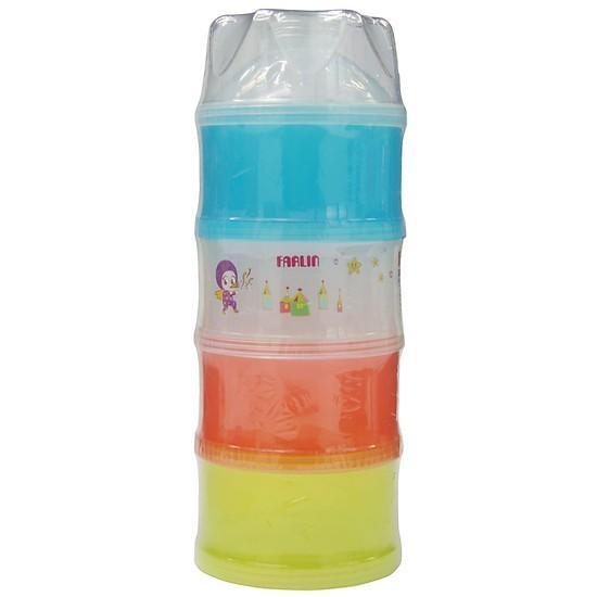 Hộp Chia Sữa Farlin Bằng Nhựa BF.183 ( Loại 4 tấng to )