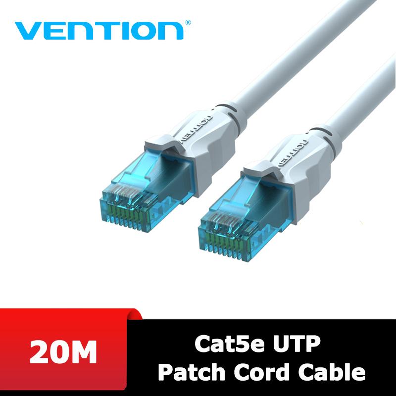 Bảng giá Dây cáp mạng Cat5e UTP 2 đầu đúc sẵn Vention, màu Sliver, dài 20M/25M/30M Phong Vũ