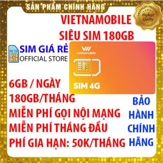 Siêu Sim 4G Vietnamobile có 180GB Tháng gói TRỌN ĐỜI - Đã có sẵn miễn phí sẵn tháng đầu + Nghe Gọi Nội Mạng Miễn Phí - Shop Sim Giá Rẻ thumbnail