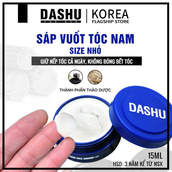 Wax hair Clay size mini Dashu for men ultra holding power 15ml, sáp vuốt tóc cao cấp giá rẻ tạo kiểu Nam Hàn Quốc, có hướng dẫn cách vuốt sáp, cách sử dụng, so sánh, lựa chọn sáp phù hợp các loại tóc khô, tóc dày, mỏng, vừa.