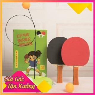 Hàng Hot Trend 2021 Bóng bàn luyện phản xạ - Bộ đồ chơi bóng phản xạ - Dụng cụ tập đánh bóng bàn cho mọi lứa tuổi (2 vợt gỗ +bóng+ dây+ đế) Gia Dụng Thiên Ân thumbnail