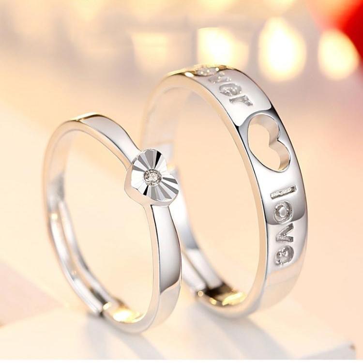 Offer Khuyến Mãi Cặp Nhẫn đôi Bạc 925 Hàn Quốc Cao Cấp (ND.A4)