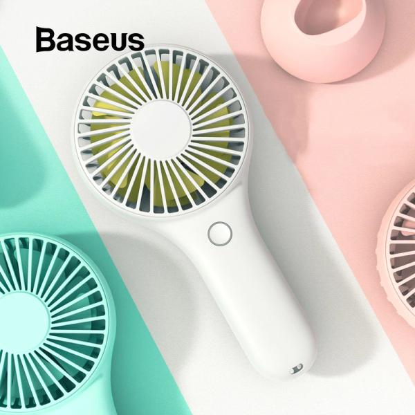 Quạt cầm tay Baseus Bingo thích hợp khi mang ra ngoài hoặc để bàn làm việc với 3 mức tốc độ Pin sạc 1800mAh