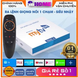 Android TV Box MyTV net 4Gb mytv net kèm điều khiển voice chuột bay - Truyền hình miễn phí 200 kênh - Ram 4G Rom 32G SS Chíp Amlogic S905X3  hàng chính hãng