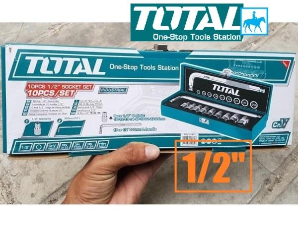 Bộ 10 Đầu Tuýp CrV DIN TOTAL THTL121101