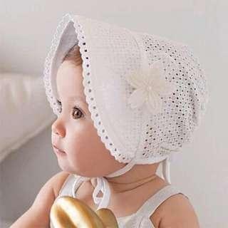 Mũ Em Bé Có Lỗ Hình Hoa Ren Mũ Bé Gái Công Chúa Mùa Hè Mũ Tai Bèo Đi Biển Có Nơ Cho Trẻ Em