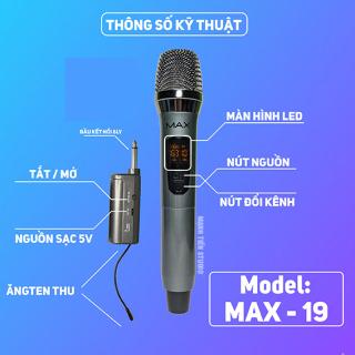 [Siêu Phẩm 2020]Trọn Bộ Micro Yamaha Không Dây Đa Năng Cao Cấp MAX 19,Mic Hat Karaoke,SIÊU HÚT ,SIÊU CHÓNG ,HÁT SIÊU HAY ,ĐỘ NHẠY MIC CỰC CHUẨN - HỘP KIM NHÔM , CHỐNG RỈ , ĐỘ BỀN CAO - ĐẸP CHẮC TAY, TIỆN LỢI ,DỄ SỬ DỤNG -BH 12T thumbnail