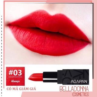 Son lì dạng thỏi Agapan Pit A Pat Matte Lipstick 03 Always - Đỏ hồng nồng nàn, quý phái thumbnail