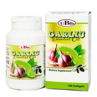 Garlic Essential Oil UBB hỗ trợ ngừa cảm cúm, ăn không tiêu, giảm cholesterol, triglyceride máu thumbnail