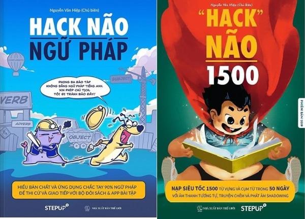 nguyetlinhbook - Combo 2 cuốn : Hack não ngữ pháp + Hack não 1500