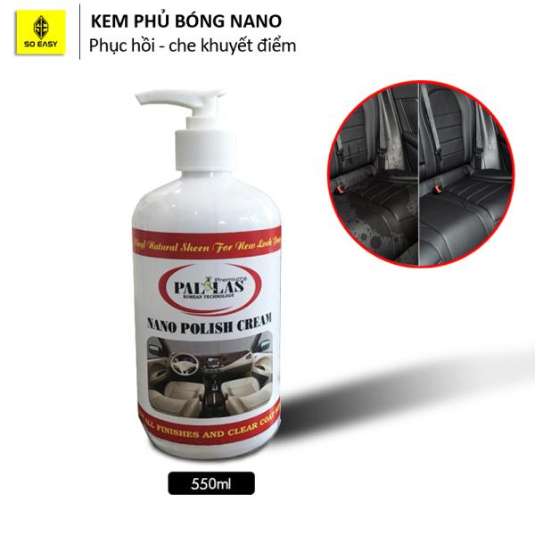 [HCM]Kem phủ bóng NANO Polish Cream - dùng đánh bóng xe máy ô tô bóng nhựa da simili hạn chế bám bụi