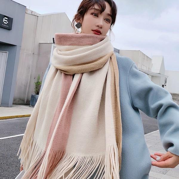 Khăn len Ullzang Hàn Quốc Nam Nữ chất len dạ Cashmere