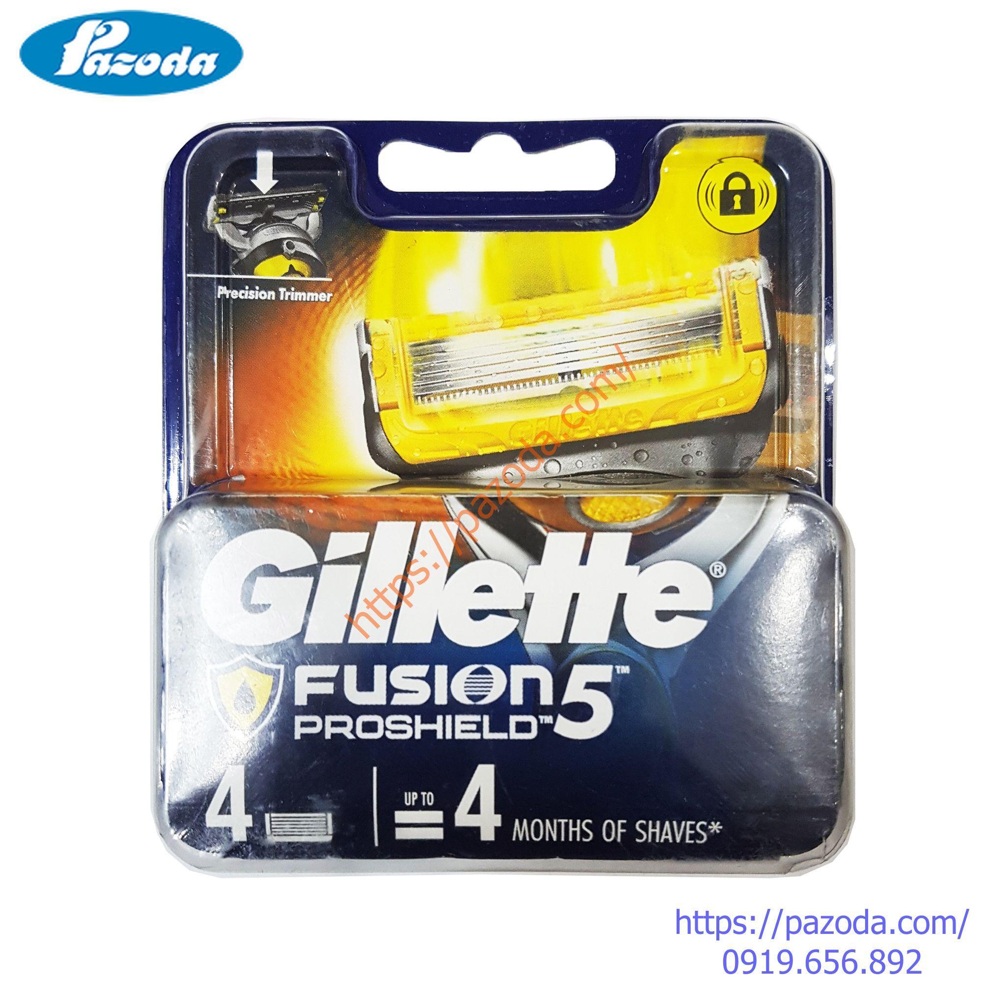 Hộp 4 lưỡi dao cạo râu Gillette Fusion Proshield