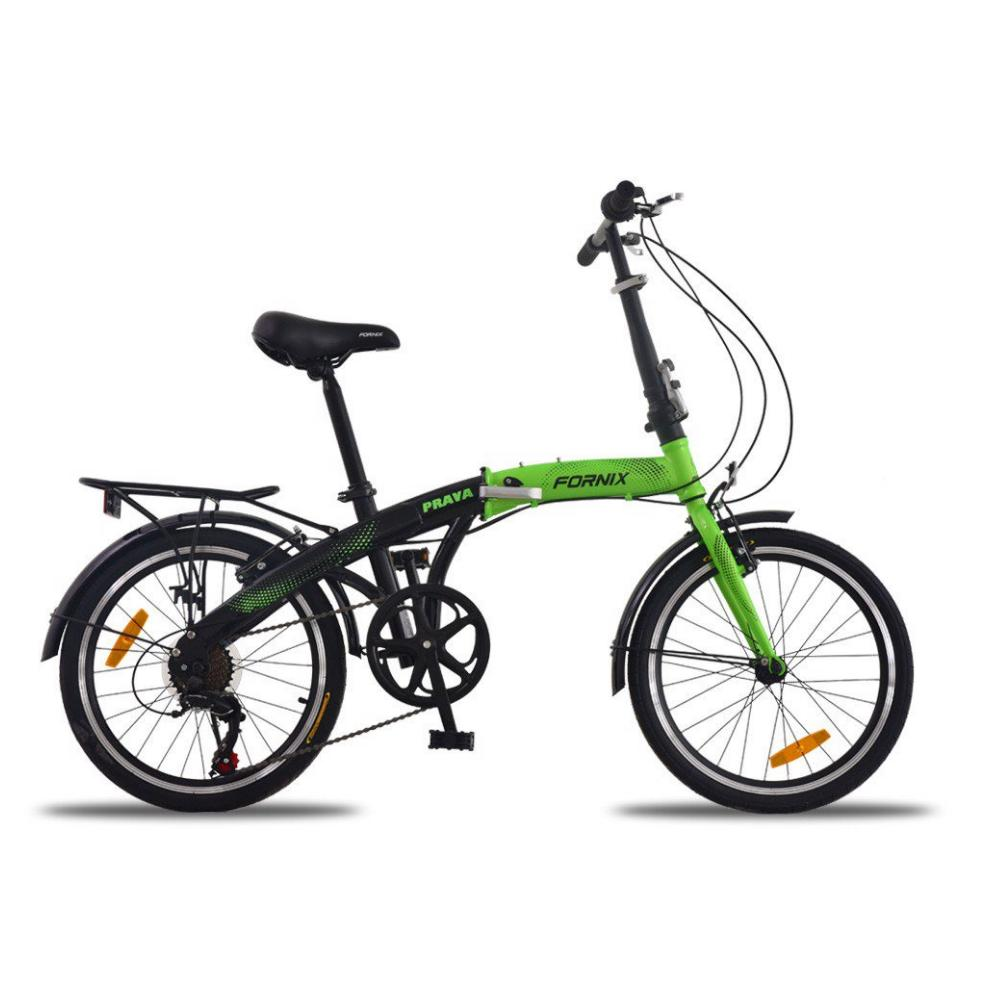 Mua Xe đạp gấp Prava màu xanh lá đen tự nhiên