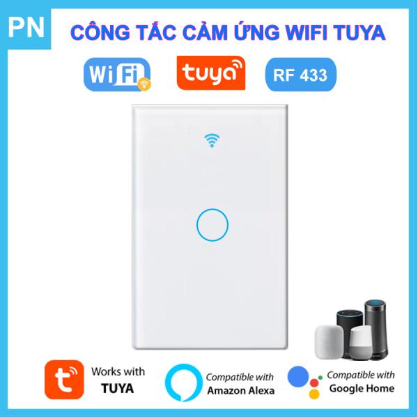 Công Tắc Wifi Tuya Điều Khiển Từ Xa + RF 433MHz - Công tắc điện thông minh âm tường chuẩn US