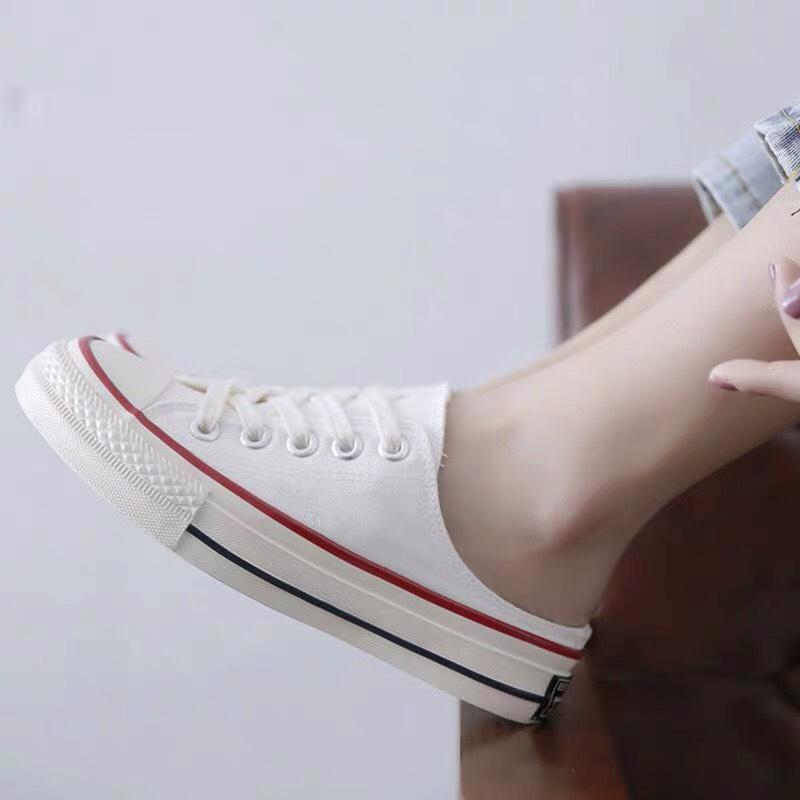 (3 màu) Giày sục trơn slip-on nữ, sục nữ giá rẻ, giày học sinh, sandal nữ, giày thể thao nữ, sneaker nữ Shyn Store, thời trang HÀN QUỐC bts fashion, vải, da, màu trắng, màu đen, màu vàng, thấp cổ, độn đế