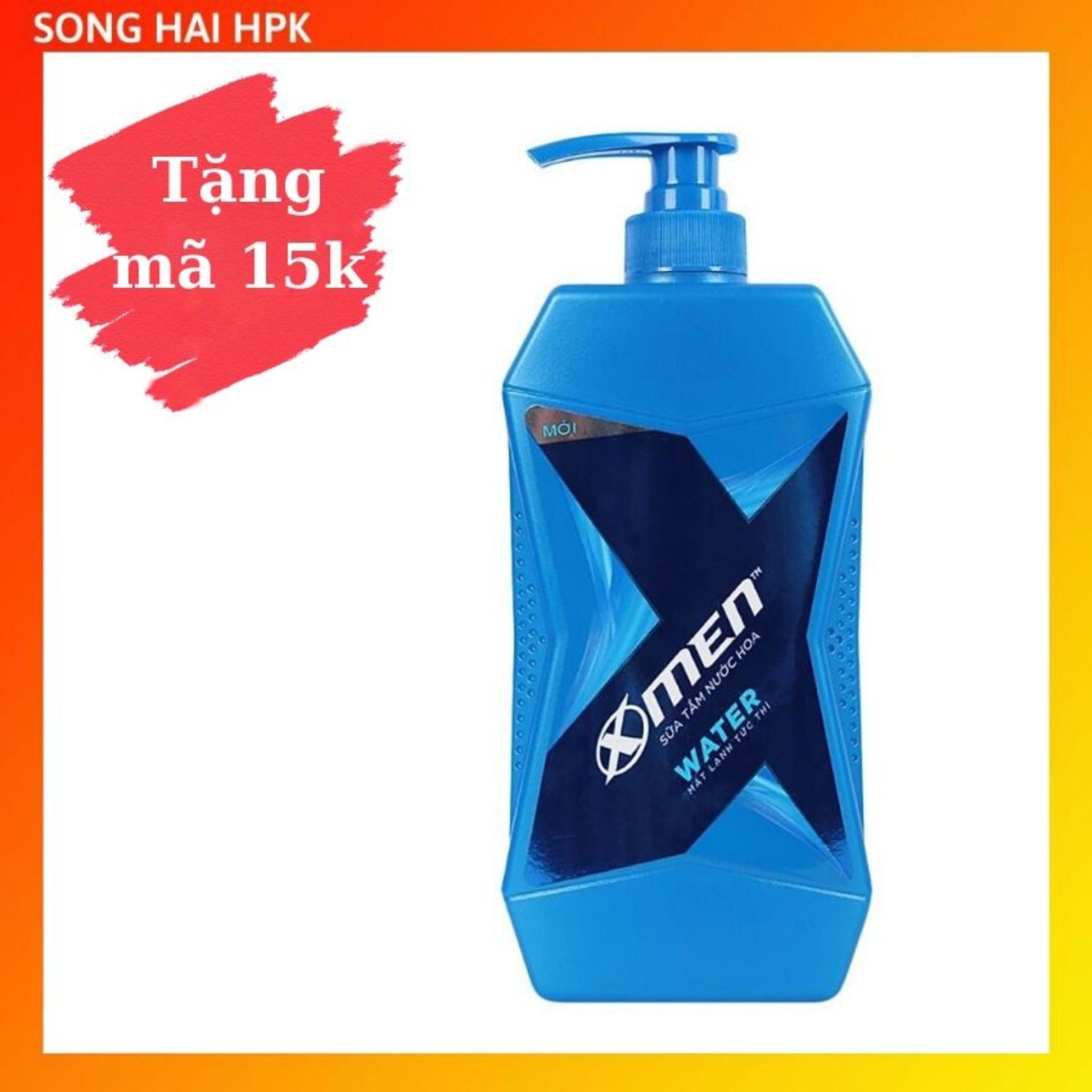 Sữa tắm nước hoa X-Men Water - Hương thơm Aqua mát lạnh 650g Songhaihpk nhập khẩu